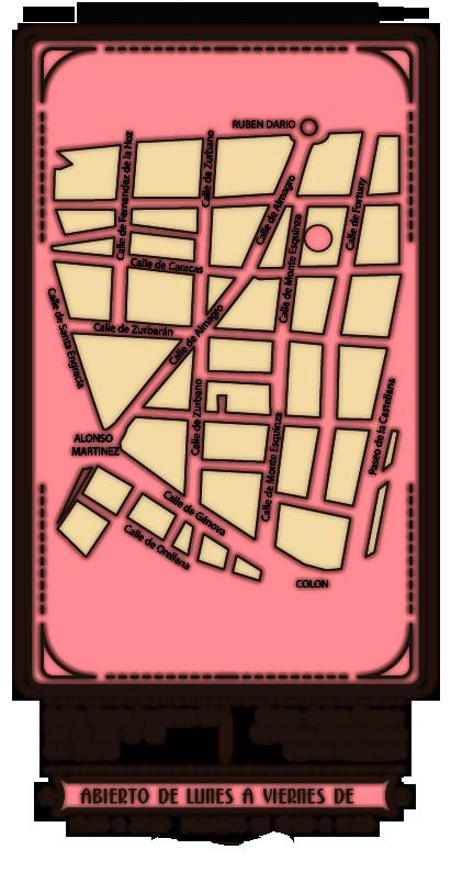 Todos nuestros servicios los encuentras aquí. Calle Monte Esquinza 36. Metro: Colon, Alonso Martinez, Ruben Dario. Teléfono: 91 310 37 62. Barrio: Chamberi