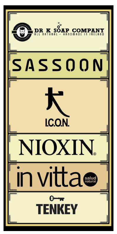 Dr K Soap Company, Sassoon, ICON, Nioxin